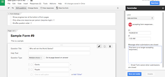 Try the New Add-ons for Google Forms