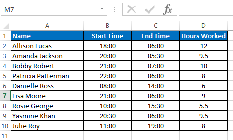 Duration calculated correctly for same and adjacent days