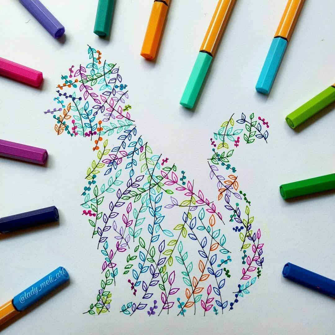 08-Cat-lady-meli-art-Precision-in-Geometric-Mandala-Drawings-www-designstack-co