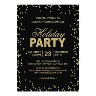 corporate trendy gold glitter invitation