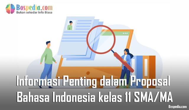 Materi Informasi Penting dalam Proposal Mapel Bahasa Indonesia kelas 11 SMA/MA