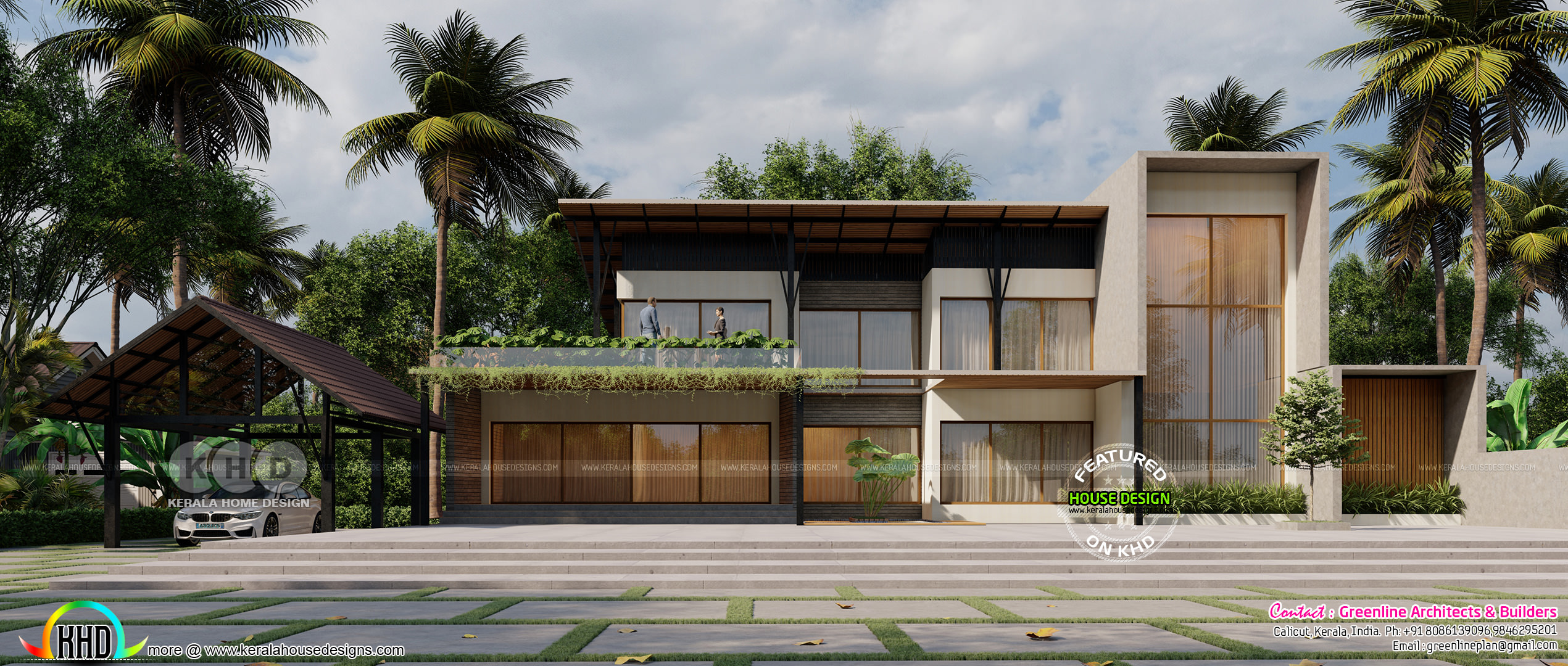 Tropical House Design With 5 Bedrooms Kerala Home Design And Floor Plans 8000 Houses