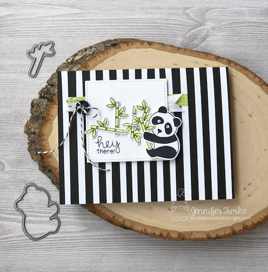 Panda Card by Jennifer Timko | Playful Pandas Stamp Set by Newton's Nook Designs #newtonsnook #handmade