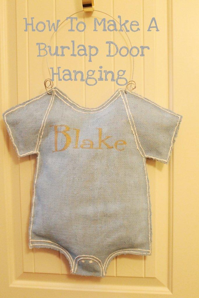How To Make A Burlap Door Hanging Miss Kopy Kat