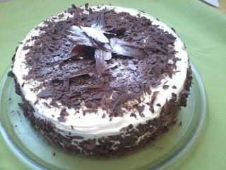 torta nevada de chocolate