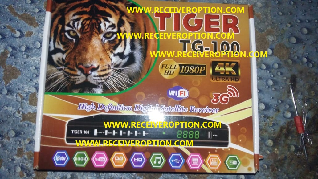 TIGER TG-100 HD RECEIVER AUTO ROLL POWERVU KEY NEW SOFTWARE - HOW TO