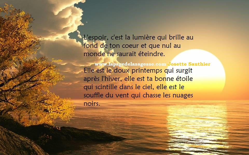 LES PANNEAUX ROSES : Citation sur l'espoir, avec lever de soleil