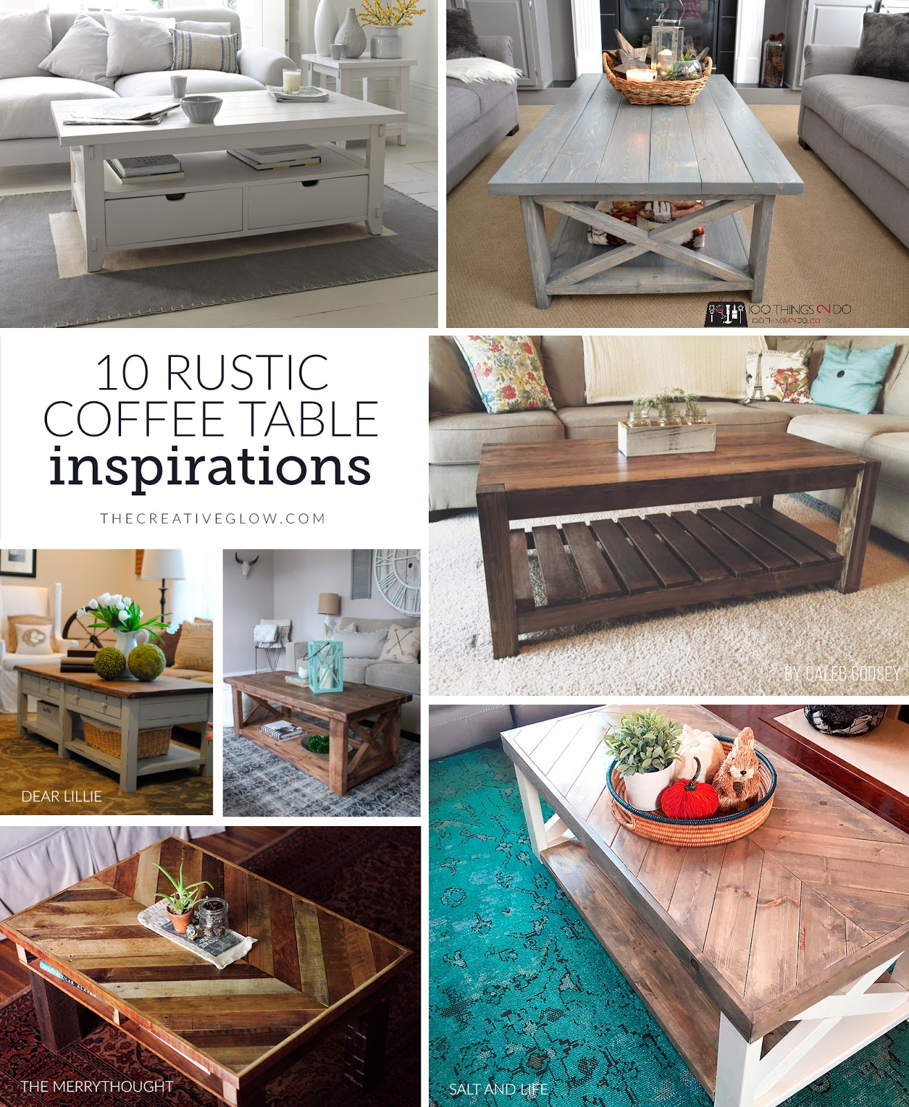 10 rustic coffee table inspirations the creative glow 10 rustic