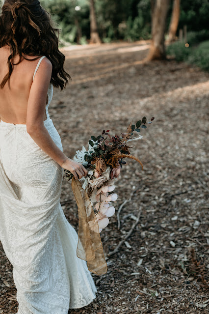 feather and finch photography bohemian styled wedding shoot gold coast bridal gowns florals outdoors