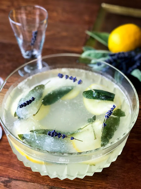 Celebrate with Sparkling Aromatic Lavender Punch