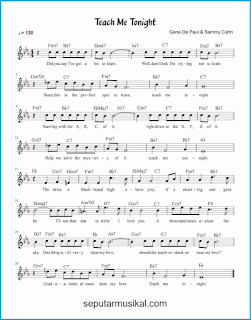 chord teach me tonight lagu jazz standar
