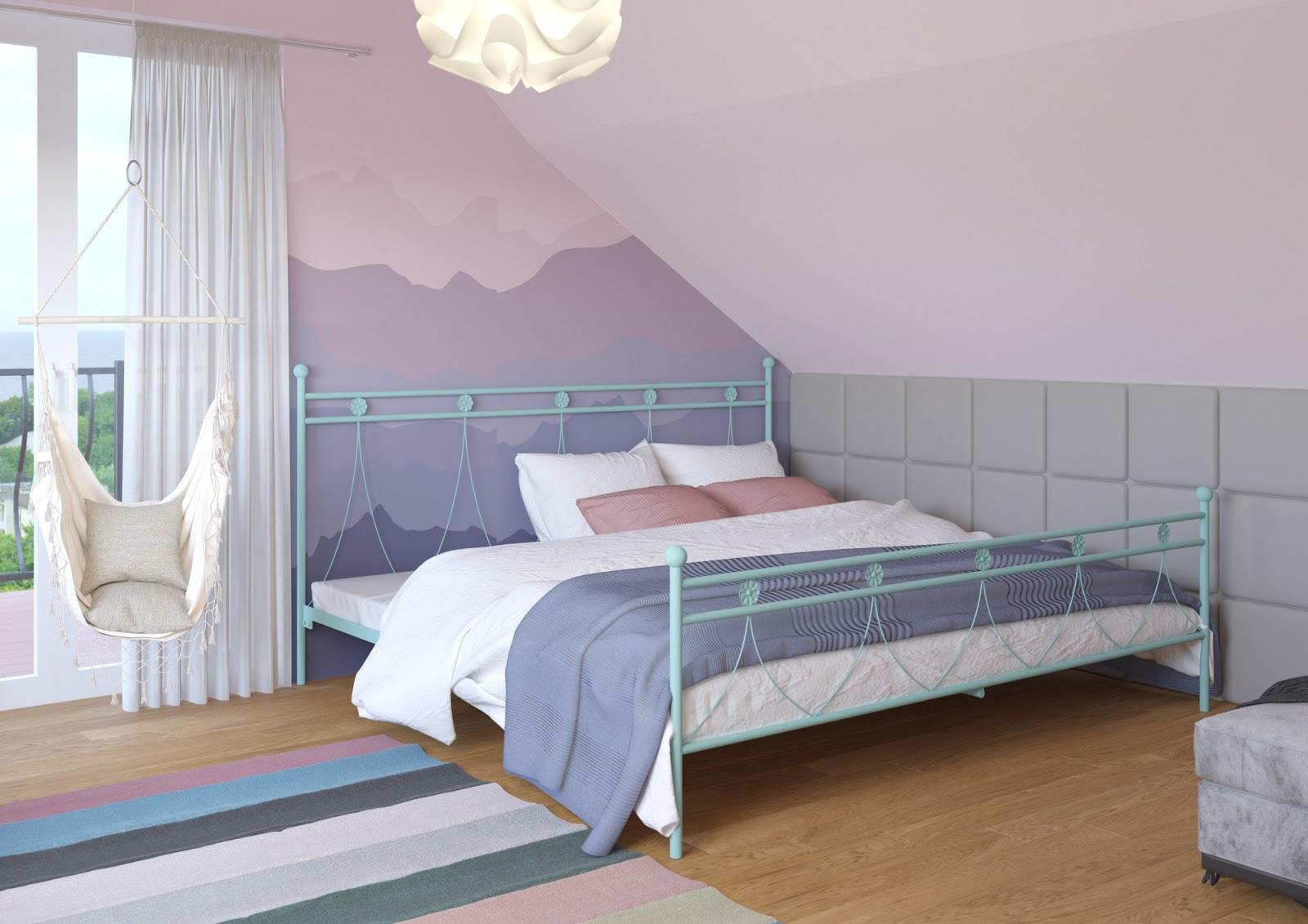 Łóżko metalowe wzór 37 (160-180 cm)