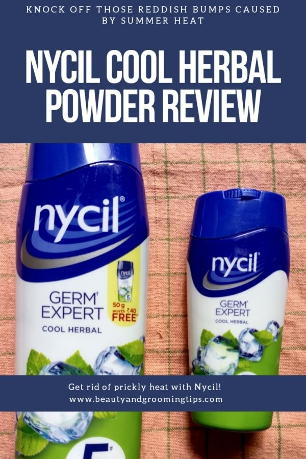 Nycil Prickly Heat Powder Review - herbal variant with neem and pudina