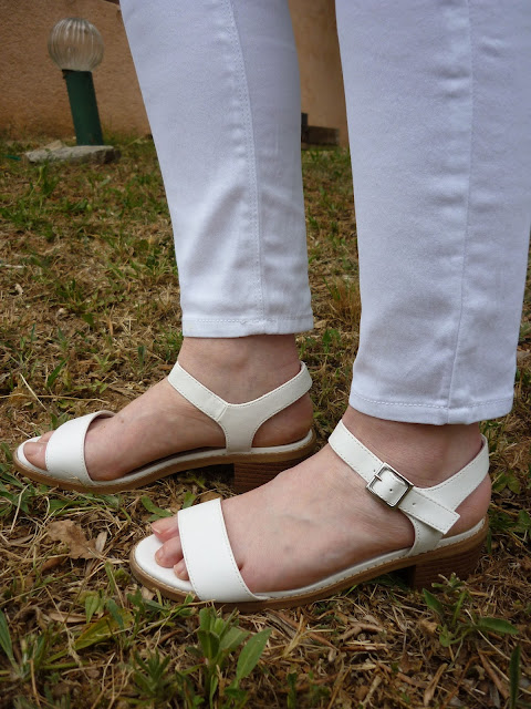 White Sandals and Jeans