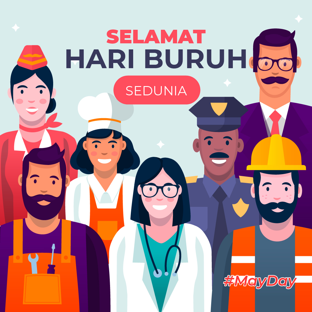 Gambar Ucapan Selamat Hari Buruh 2021