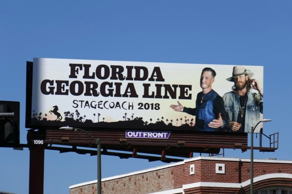 Florida Georgia Line Stagecoach 2018 billboard