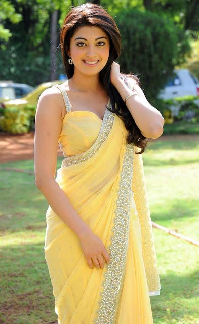 Saree Market South Indian Actress Pranitha Subhash Yellow -8055