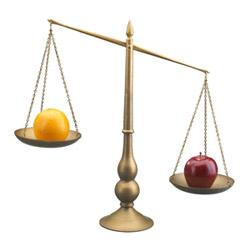 Weighing Apples to Oranges