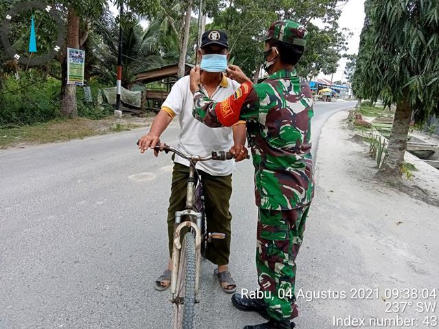 Antisipasi Penyebaran Covid-19 Diwilayah Binaan, Personel Jajaran Kodim 0208/Asahan Laksanakan Gakplin Protkes