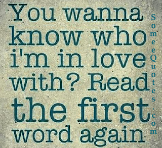 you wanna know who i'm in #love with? Read the first word again