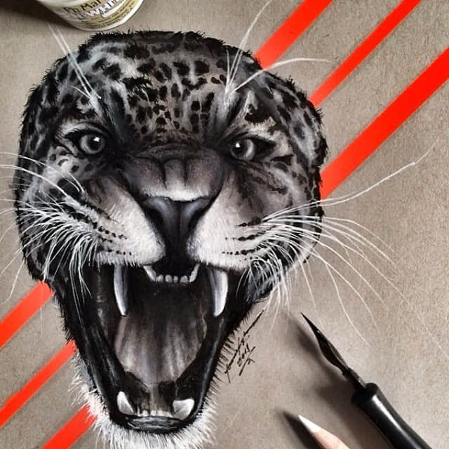 10-Leopard-Jonathan-Martinez-Animal-Drawings-with-Colored-Pencils-www-designstack-co