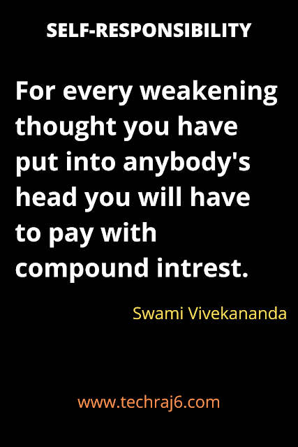 Self Responsibility quotes by Swami Vivekananda