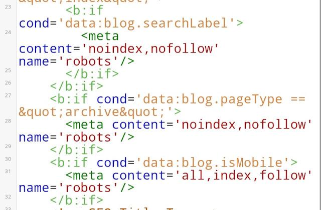 contoh meta tag pada html