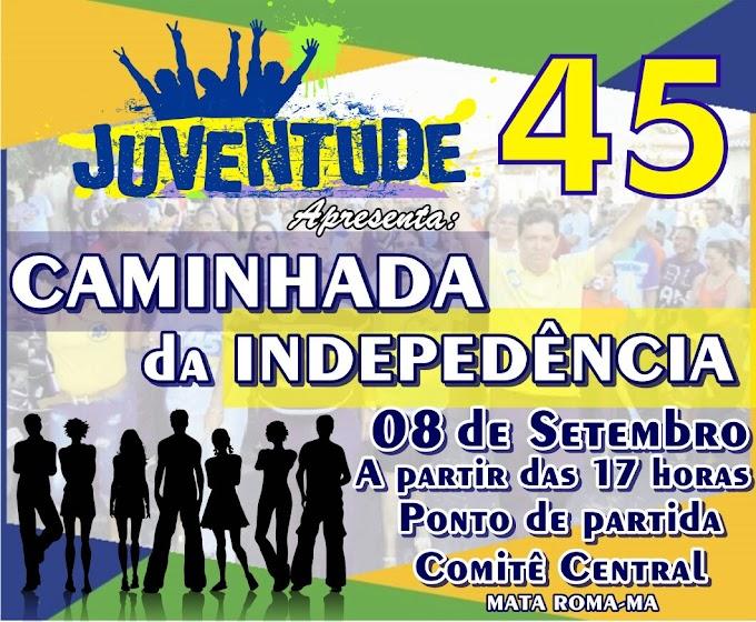 Em Mata Roma, Juventude 45 realiza caminhada da Independência dia 08 de Setembro