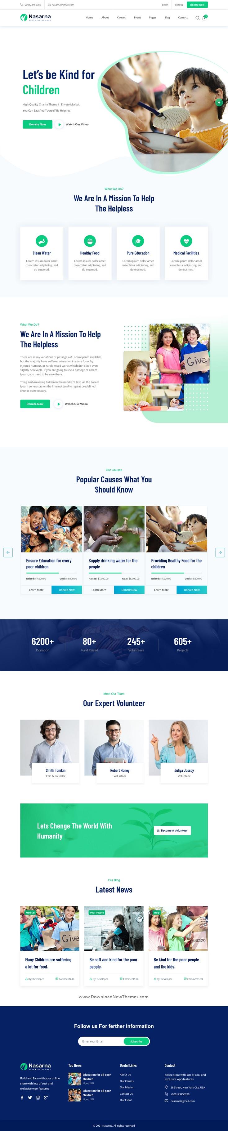 Charity Nonprofit Next JS Template