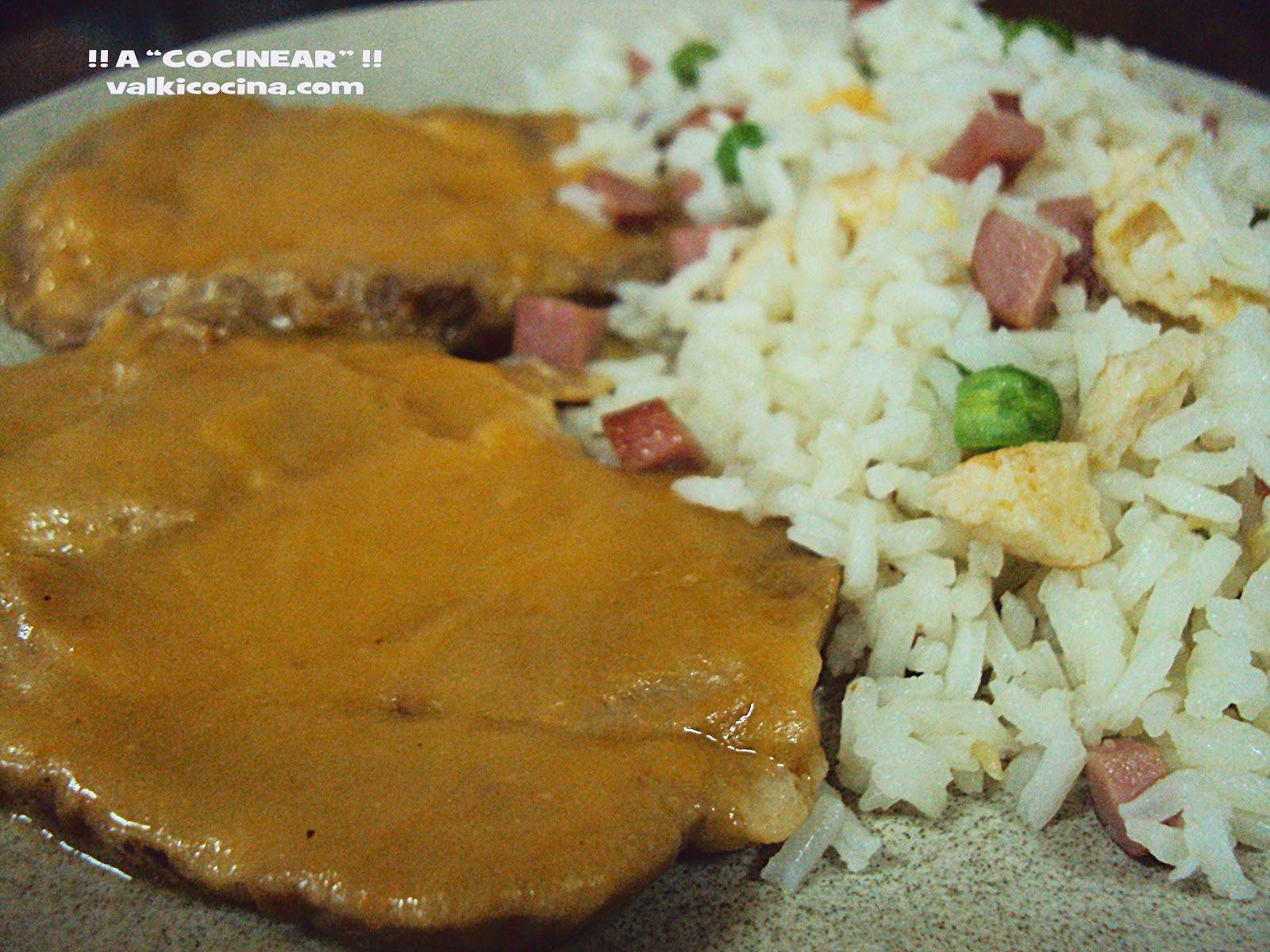 Lomo en salsa de zanahoria