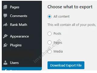 Export All Content