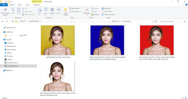 Ganti Background Foto menjadi Merah atau Biru ONLINE dengan remove bg - background biru dan background merah