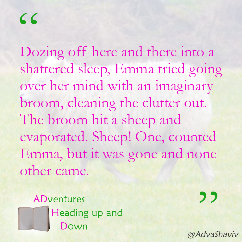 Background: A sheep walking on green grass. Text: the quote which follows in the text below this image
