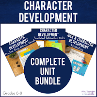 Everything you need to teach character development with built-in differention so you can teach, remediate and enrich your middle school students!  Just print, makes copies and teach!  #lessons #activities