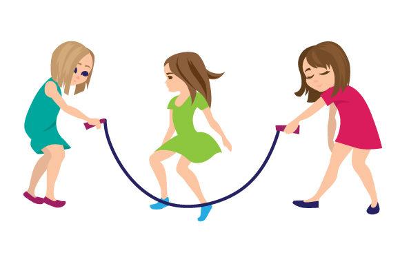 Kids Jumping Rope Craft Design