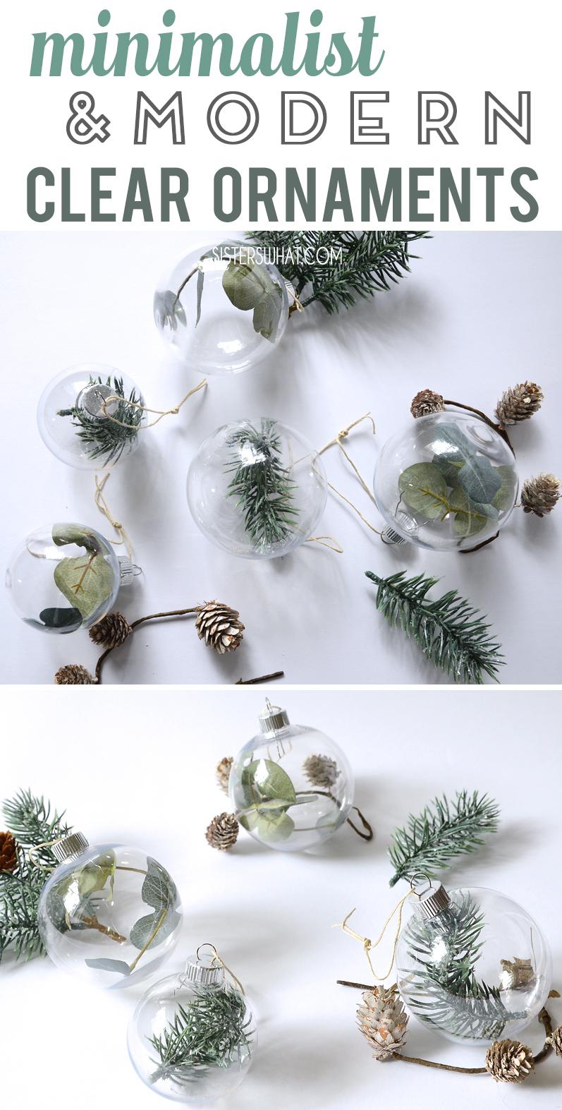 minimalist modern christmas ornaments