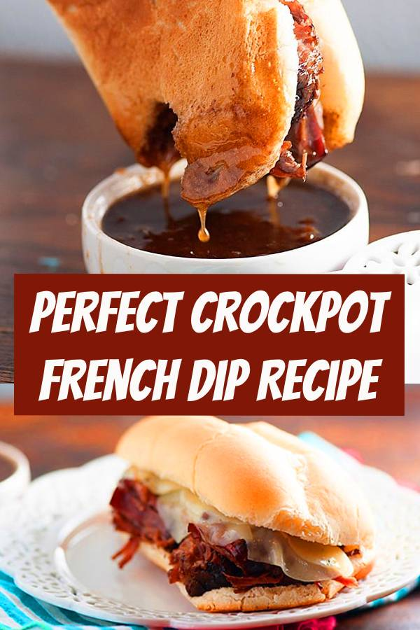 Everyone's favorite crockpot recipe! This French Dip sandwich is perfect for busy nights! #crockpot #frenchdip #sandwich #recipe