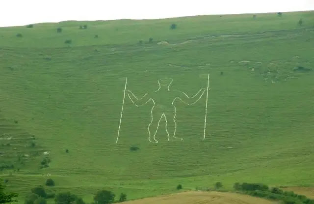 The Long Man of Wilmington East Sussex England