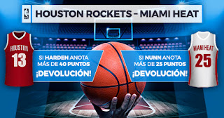 Paston promo NBA Houston vs Miami 28 noviembre 2019