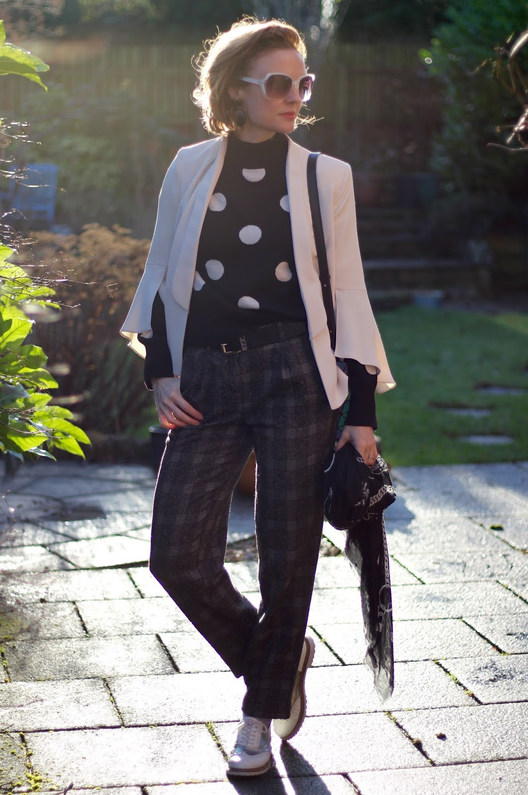 Winter Outfit | Checks and Spots | Layered style