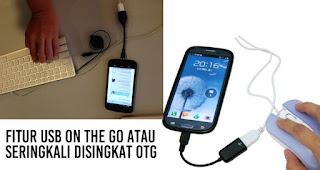 Fitur ini disebut sebagai USB On The Go atau seringkali disingkat OTG