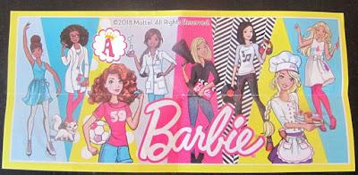Вкладыш к киндерам Барби