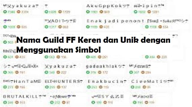 Nama Guild FF Keren