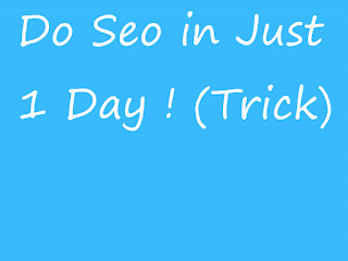 one day seo tricks