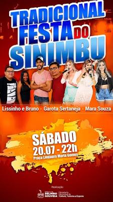 Shows de três bandas na Festa do  Distrito de Sinimbu custaram mais de R$ 35 mil aos cofres da Prefeitura de Delmiro Gouveia