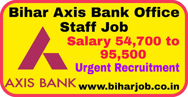 Axis Bank Office Staff Job
