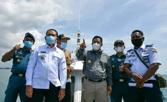 Pjs Gubernur Kepri Bersama Pjs Bupati Bintan Meninjau Titik-Titik Lokasi Pembangunan Jembatan Batam-Bintan