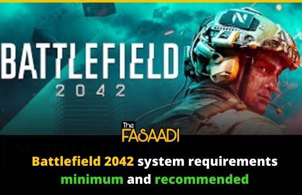 Battlefield 2042 system requirements minimum and recommended