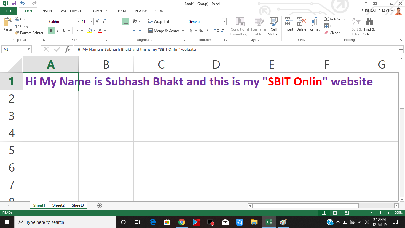 Tips For Working With Excel By Sbit Online