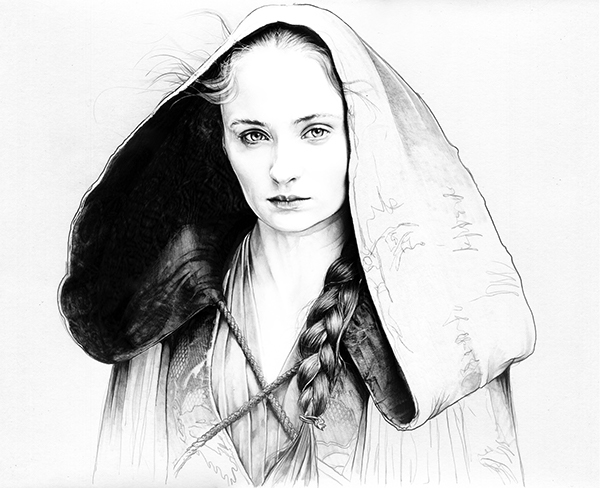06-Sophie-Turner-Sansa-Stark-Corbyn-S-Kern-Game-of-Thrones-Star-Trek-and-Star-Wars-Character-Drawings-www-designstack-co